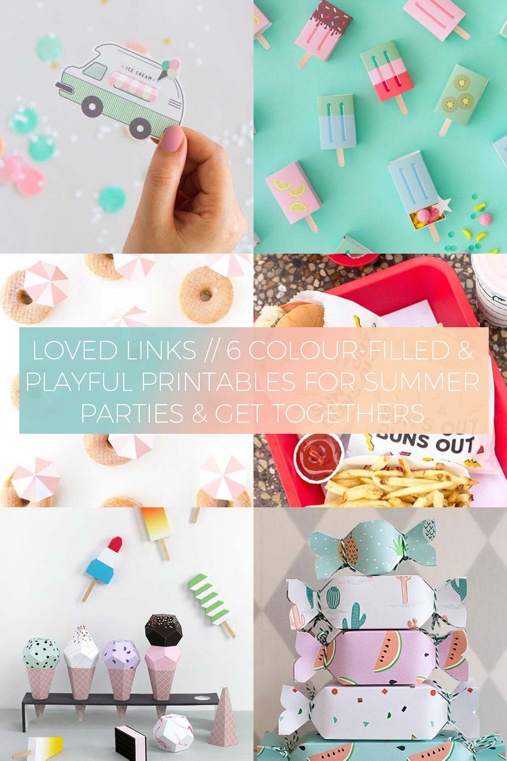 6 Colour-Filled & Playful Printables for Summer Parties & Get Togethers // Loved Links