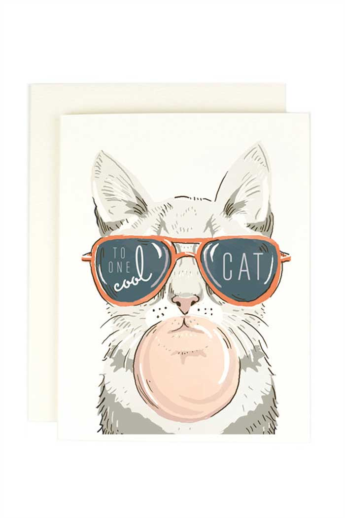 To One Cool Cat Crazy Cat Lady Card