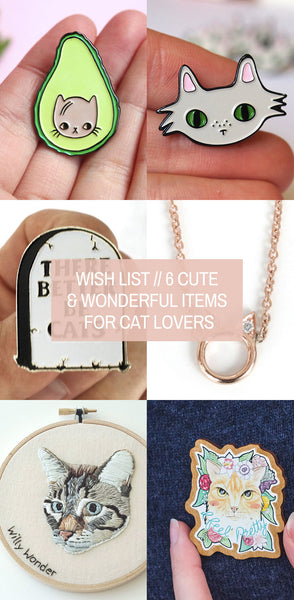 Wish List // 6 Cute and Wonderful Items for Cat Lovers