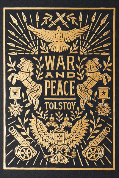 War and Peace Book Cover by Lettering Artist Dana Tanamachi