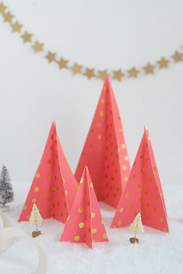 How to create your own DIY Paper Christmas Trees