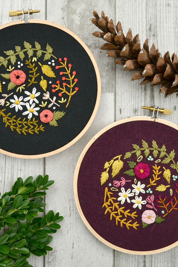 Embroidery Work by Cristin Morgan of Marigold + Mars
