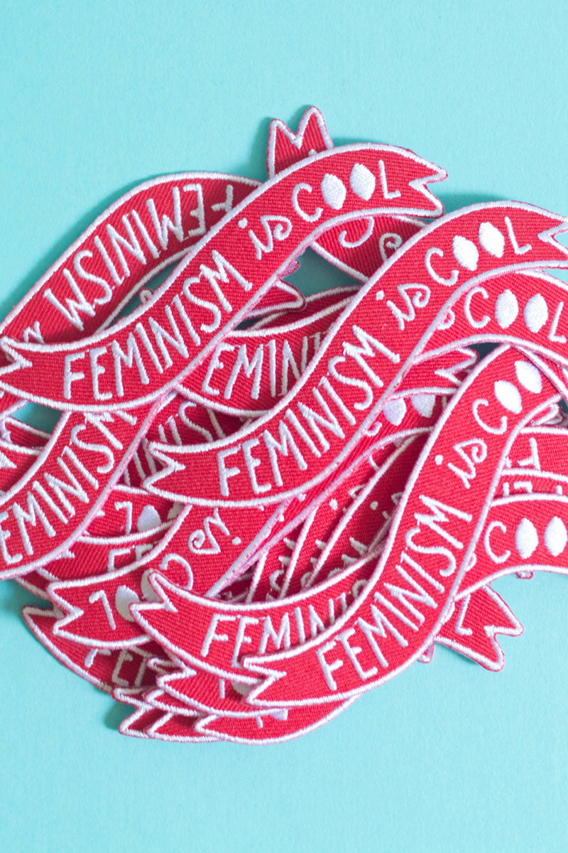 Feminism is Cool Iron-on Embroidered Patch by Midge Blitz