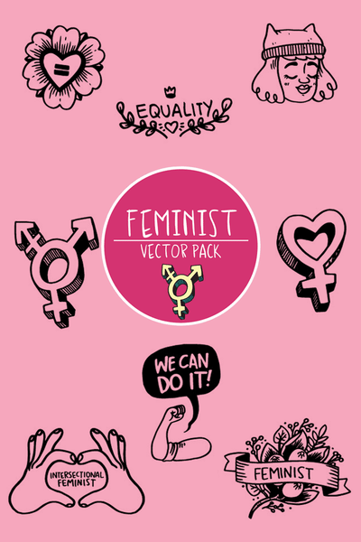 Feminist Vector Pack by illustrator Shelby Criswell