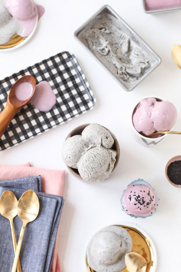 Taro and Black Sesame Ice Cream Recipe from Paper & Stitch