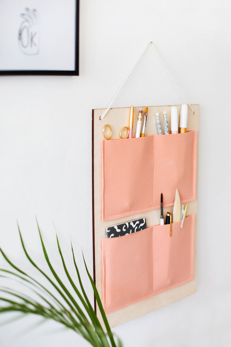 DIY Pocket Hanging Organiser by The Lovely Drawer