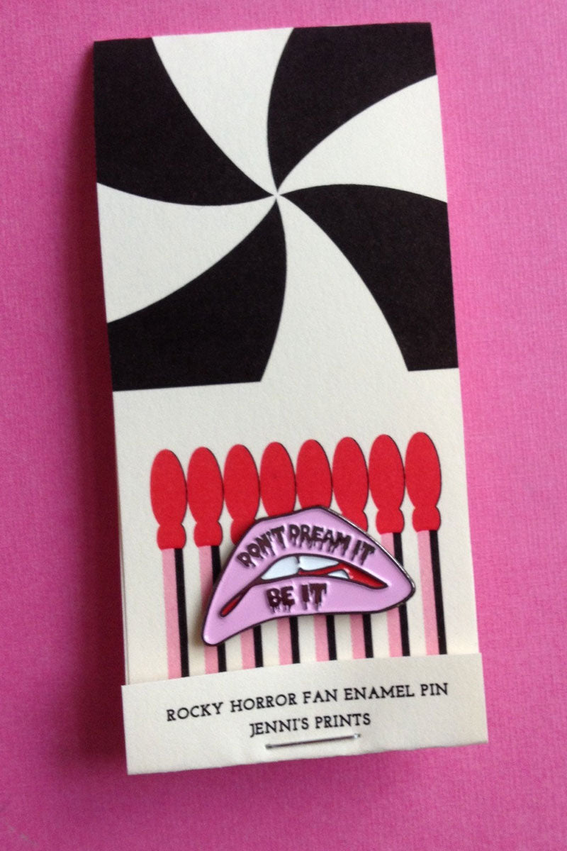 Don't Dream It Be It! Rocky Horror Picture Show Lapel Enamel Pin on Etsy