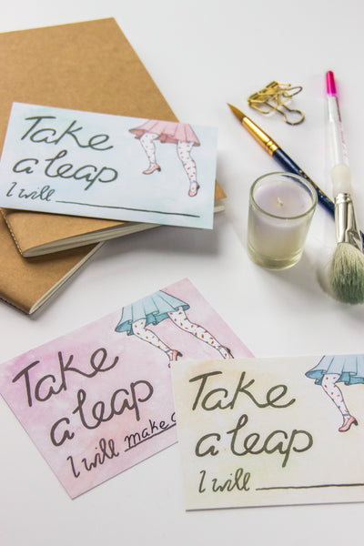 Freebie // February 2016 - Downloadable 'Take a Leap' Printable