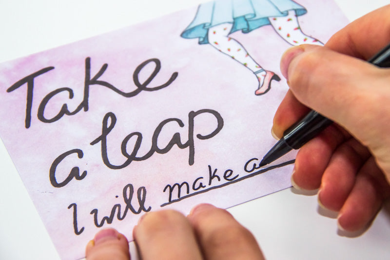 February Freebie // 'Take a Leap' Downloadable Printable by illustrator / artist Karen Murray of A Rose Cast