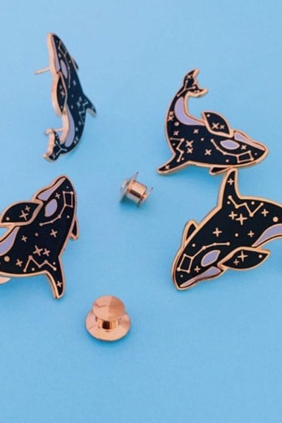 Cosmic Orca Enamel Pin by Stodium