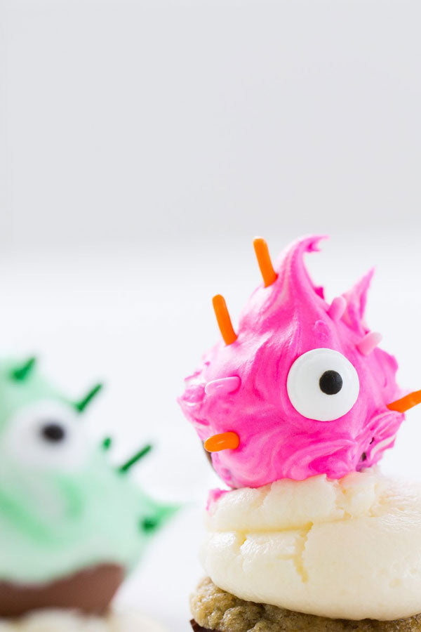 DIY Truffle Monster Cupcake Toppers