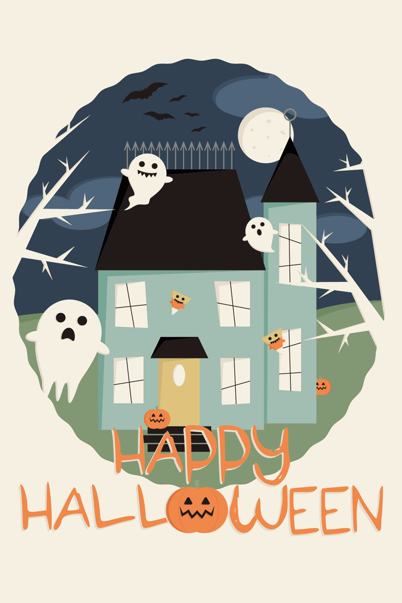 Printable Halloween Party Invites & Decorations & Digital Wallpapers
