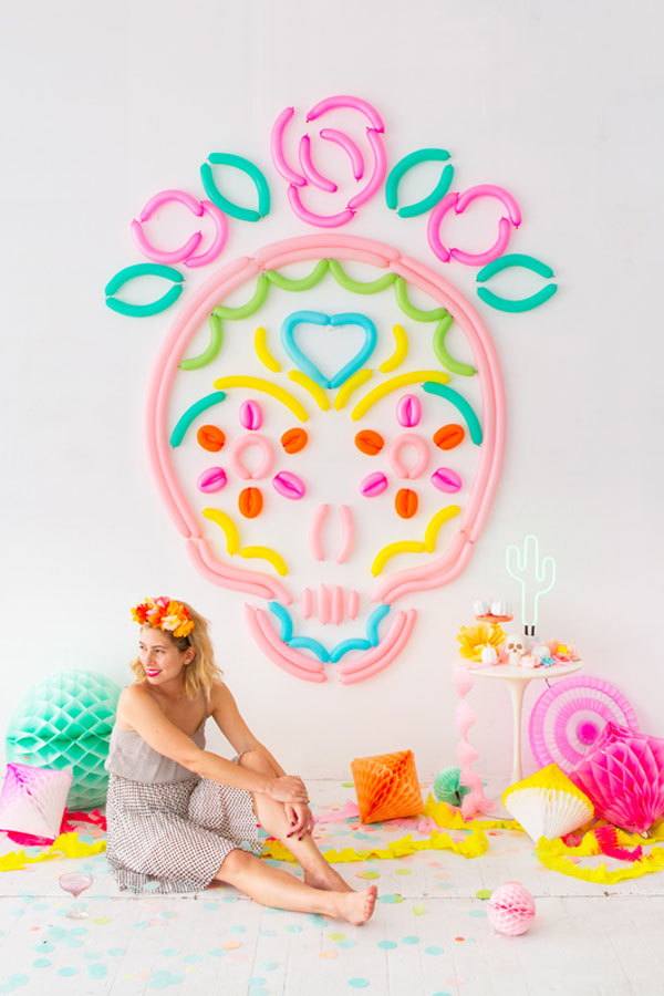 Sugar Skull Balloon Backdrop