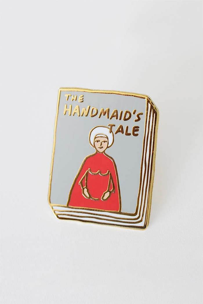 The Handmaid's Tale Book Pin, Inspired by Margaret Atwood's Dystopian Classic Novel