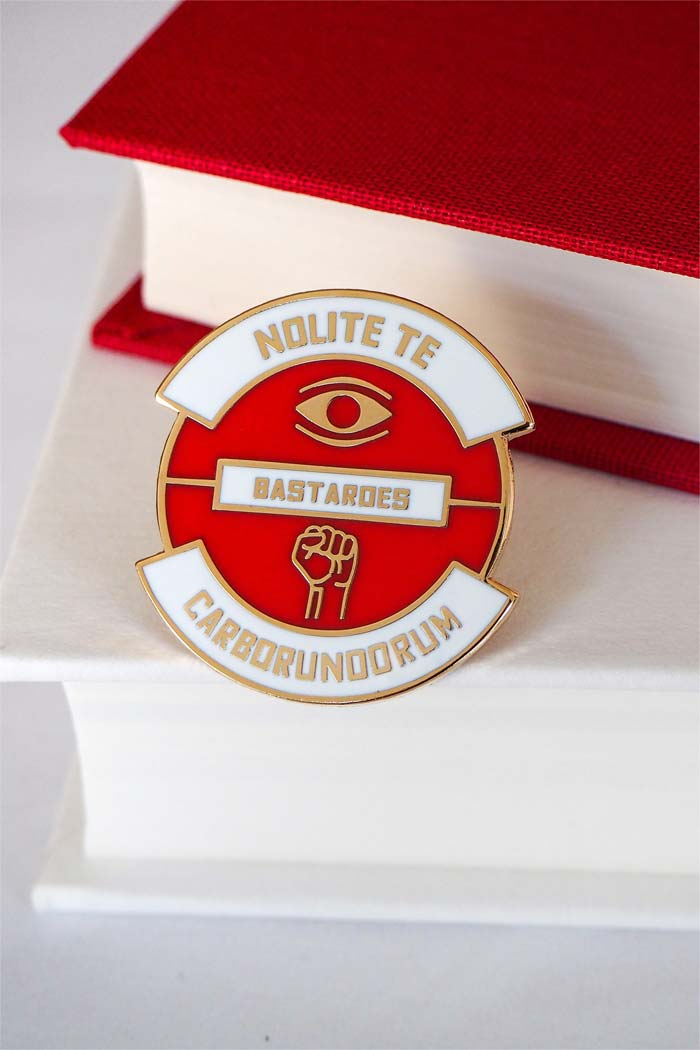 Nolite Te Bastardes Carborundorum Enamel Pin from Literary Emporium, Inspired by Margaret Atwood's The Handmaid's Tale