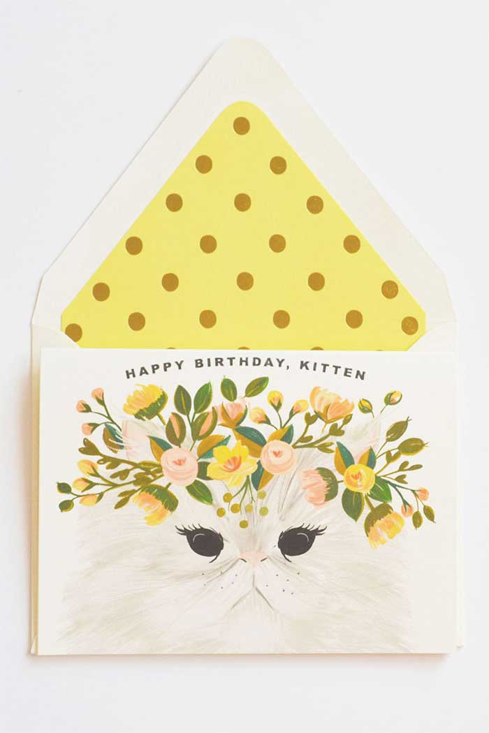 Happy Birthday, Kitten Crazy Cat Lady Card