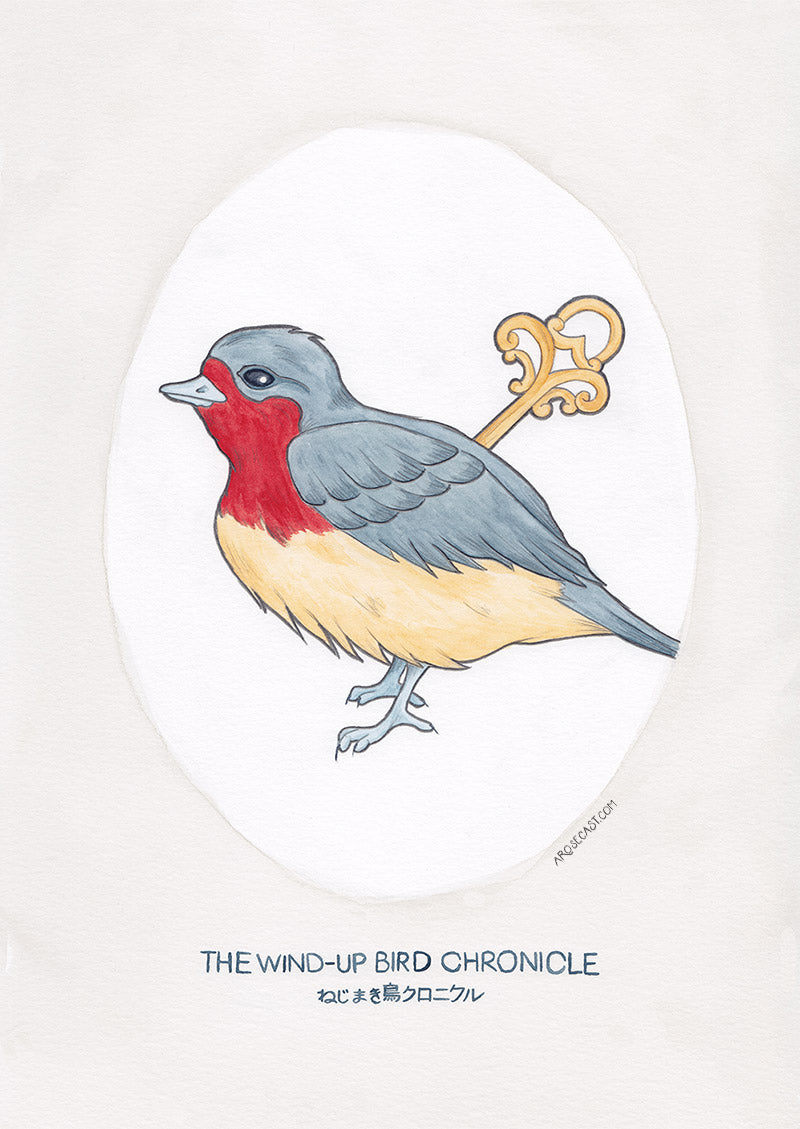 Watercolour Illustration of Haruki Murakami's Novel The Wind-Up Bird Chronicle
