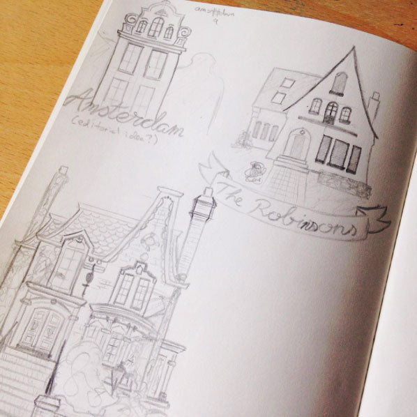 Sketching cute houses on Instagram