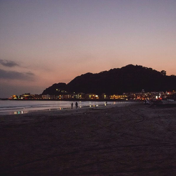 Kamakura Beach, Japan, at Sunset on Instagram