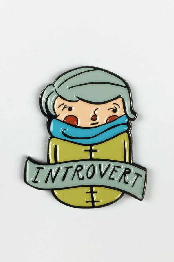 Introvert Lapel Pin by Kwanalee