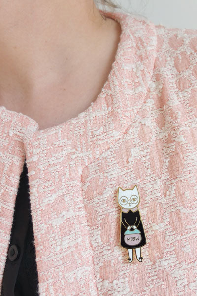 Mrs Cat Brooch by Hug a Porcupine & Audrey Jeanne