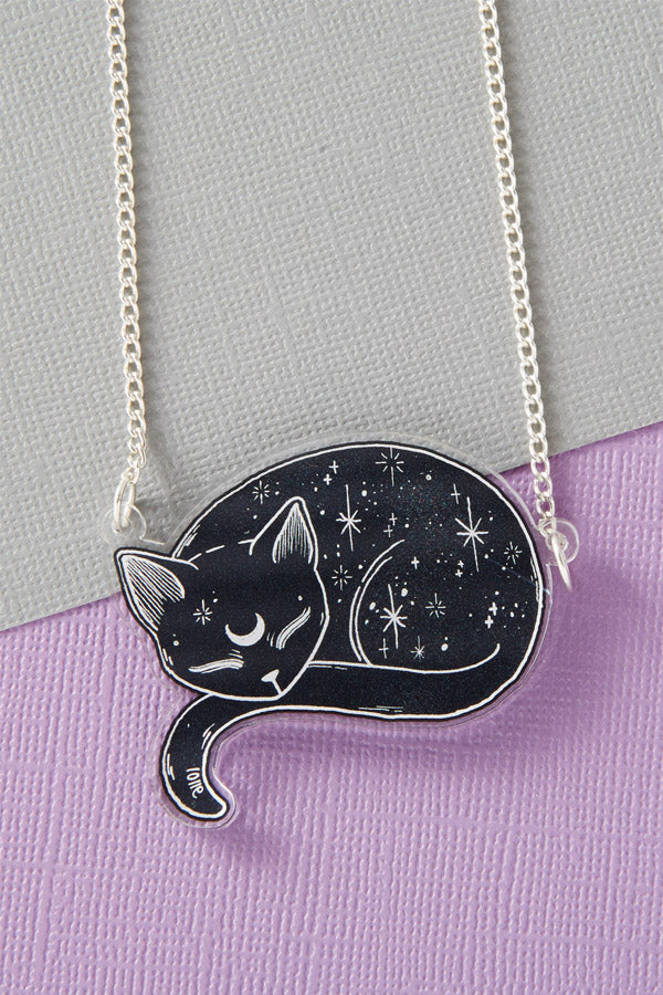 Mystical Cat Acrylic Necklace by Punky Pins