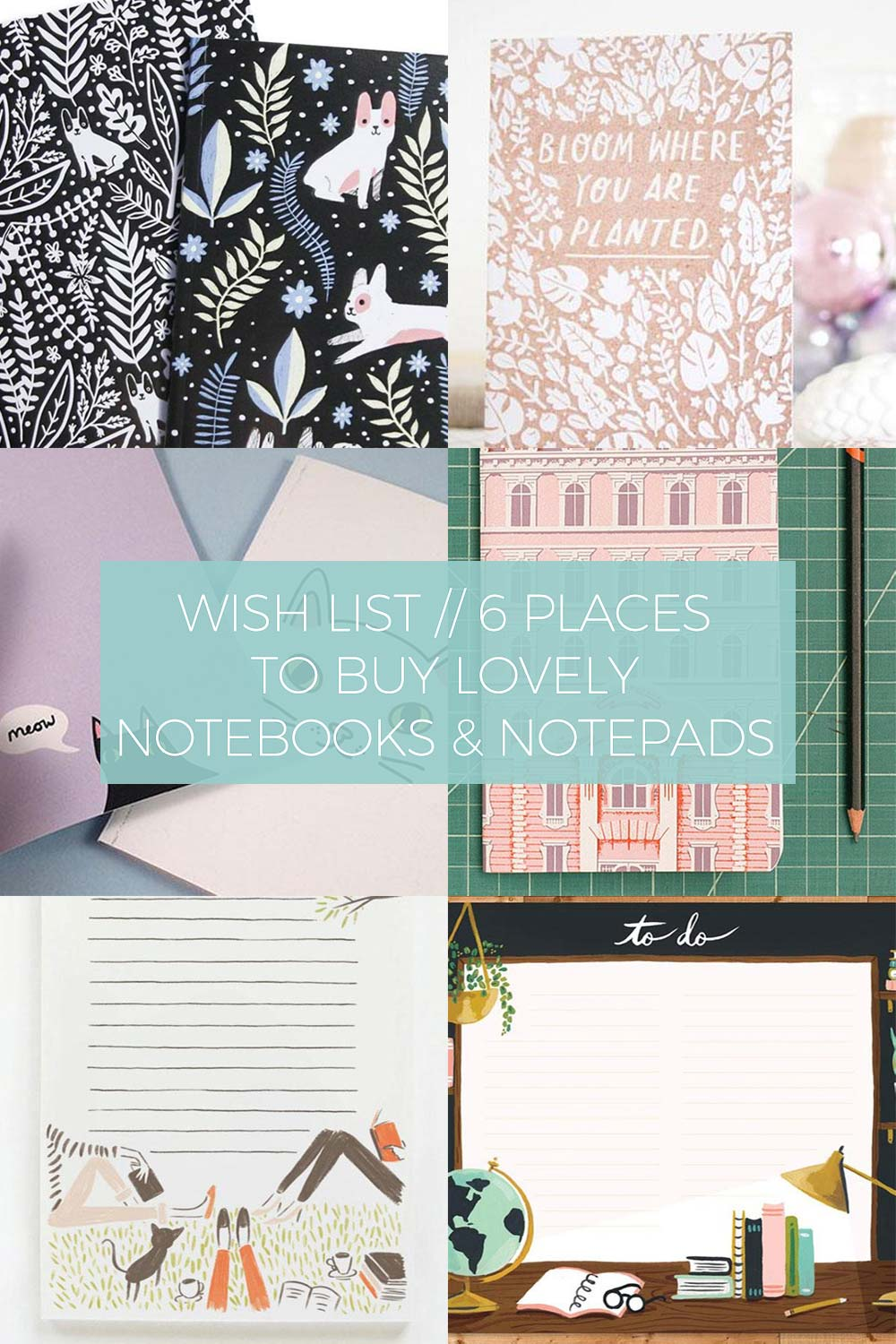 6 Places to Buy Lovely Notebooks & Notepads // Wish List