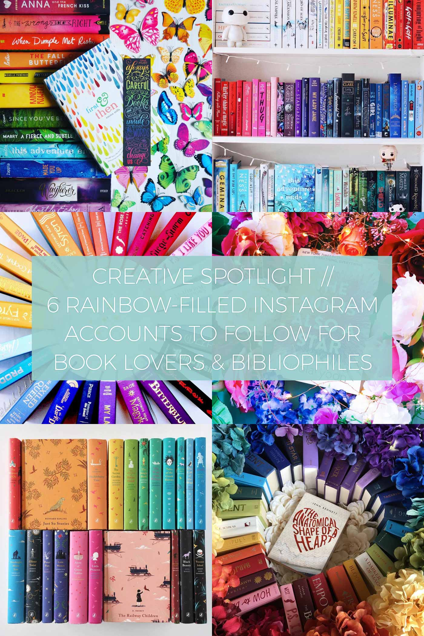 6 Rainbow-Filled Instagram Accounts to Follow for Book Lovers and Bibliophiles // Creative Spotlight