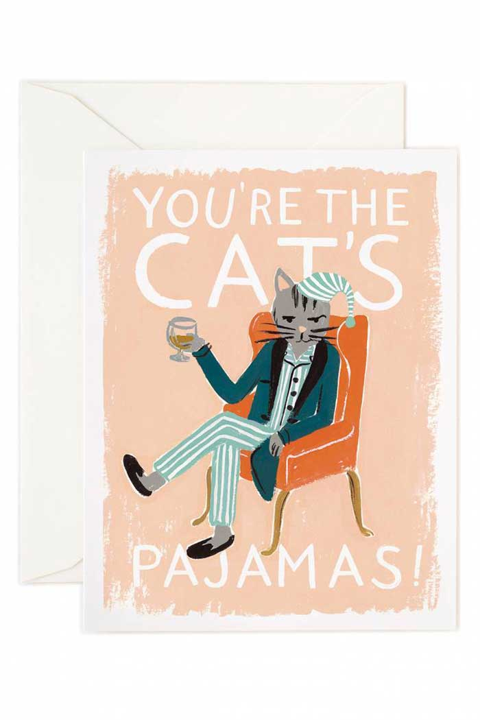 You're the Cat's Pajamas Crazy Cat Lady Card