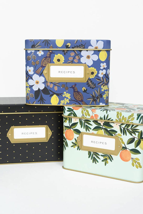 Tin Recipe Boxes by Rifle Paper Co.