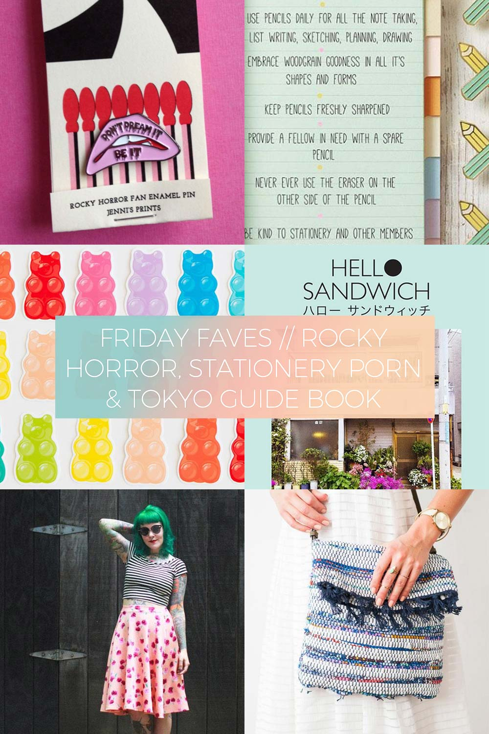 Rocky Horror, Stationery Porn & Tokyo Guide Book // Friday Favourites