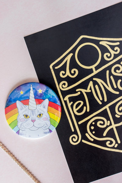 Example of Cat and Feminism Themed Products from A Rose Cast