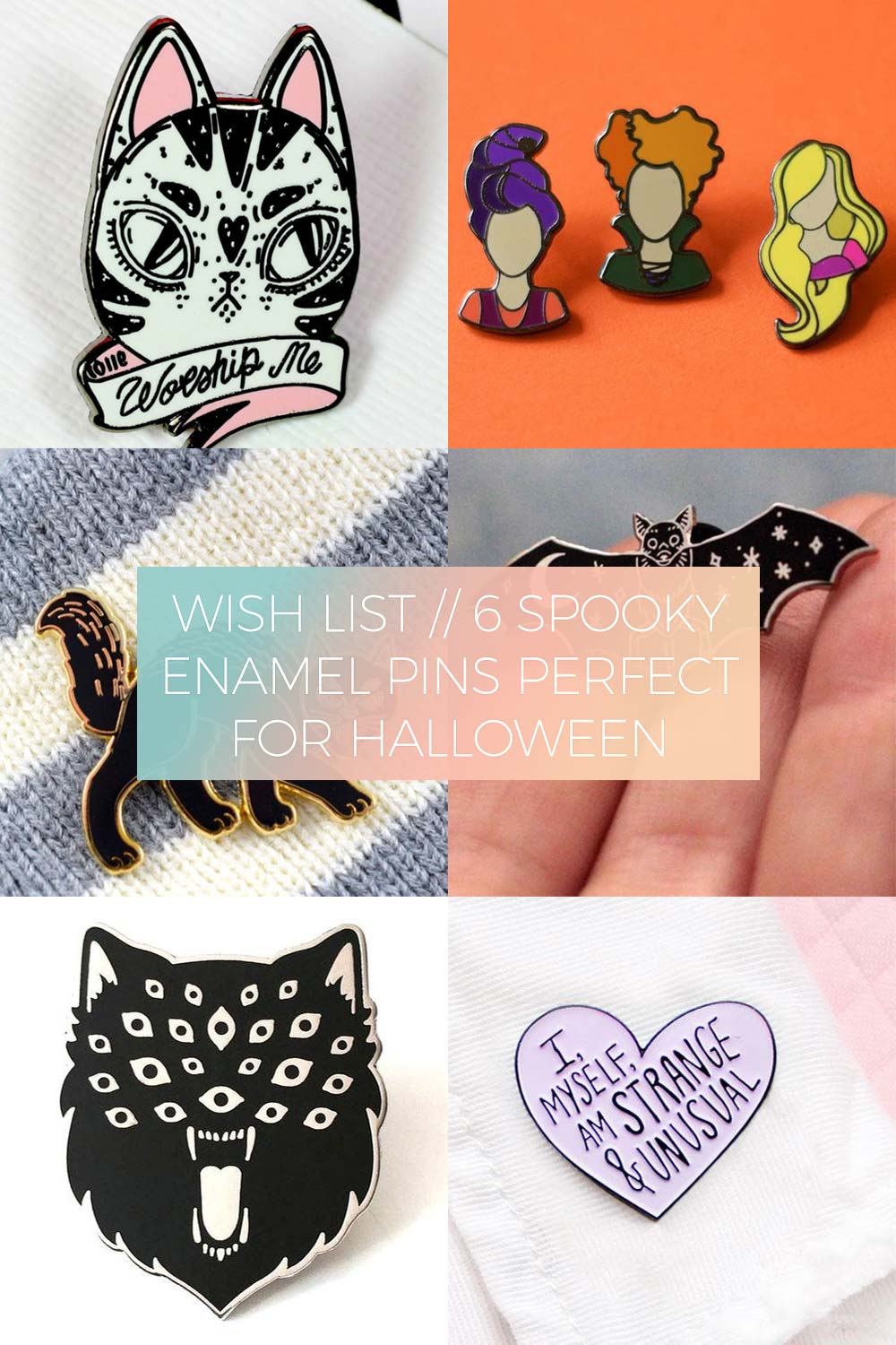 6 Spooky Enamel Pins Perfect for Halloween // Wish List