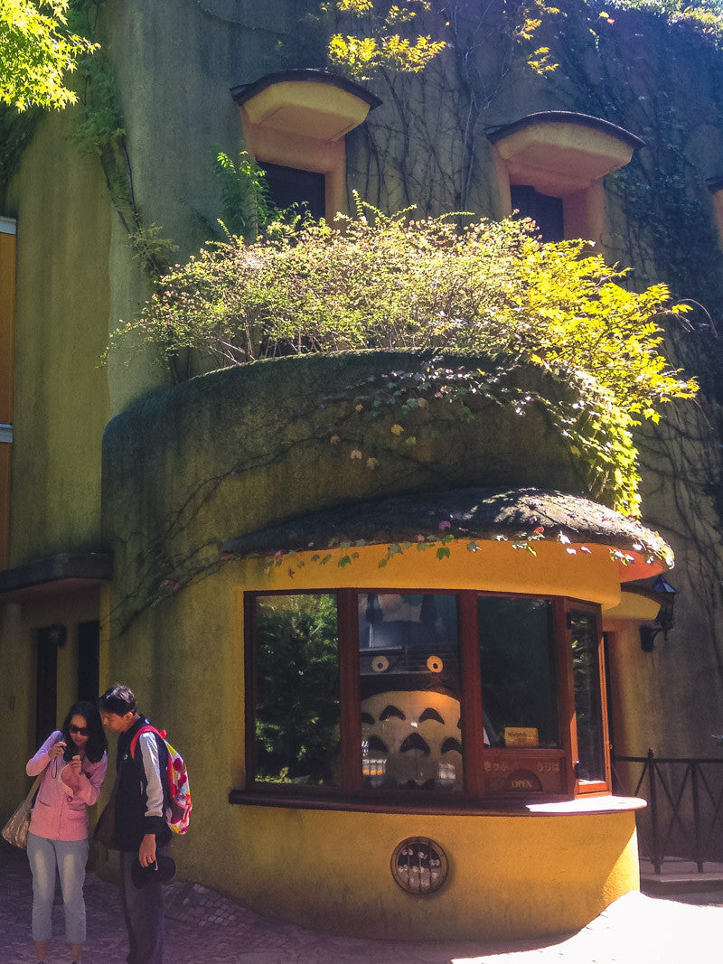 The entrance to the Studio Ghibli Museum, with Totoro looking out the window