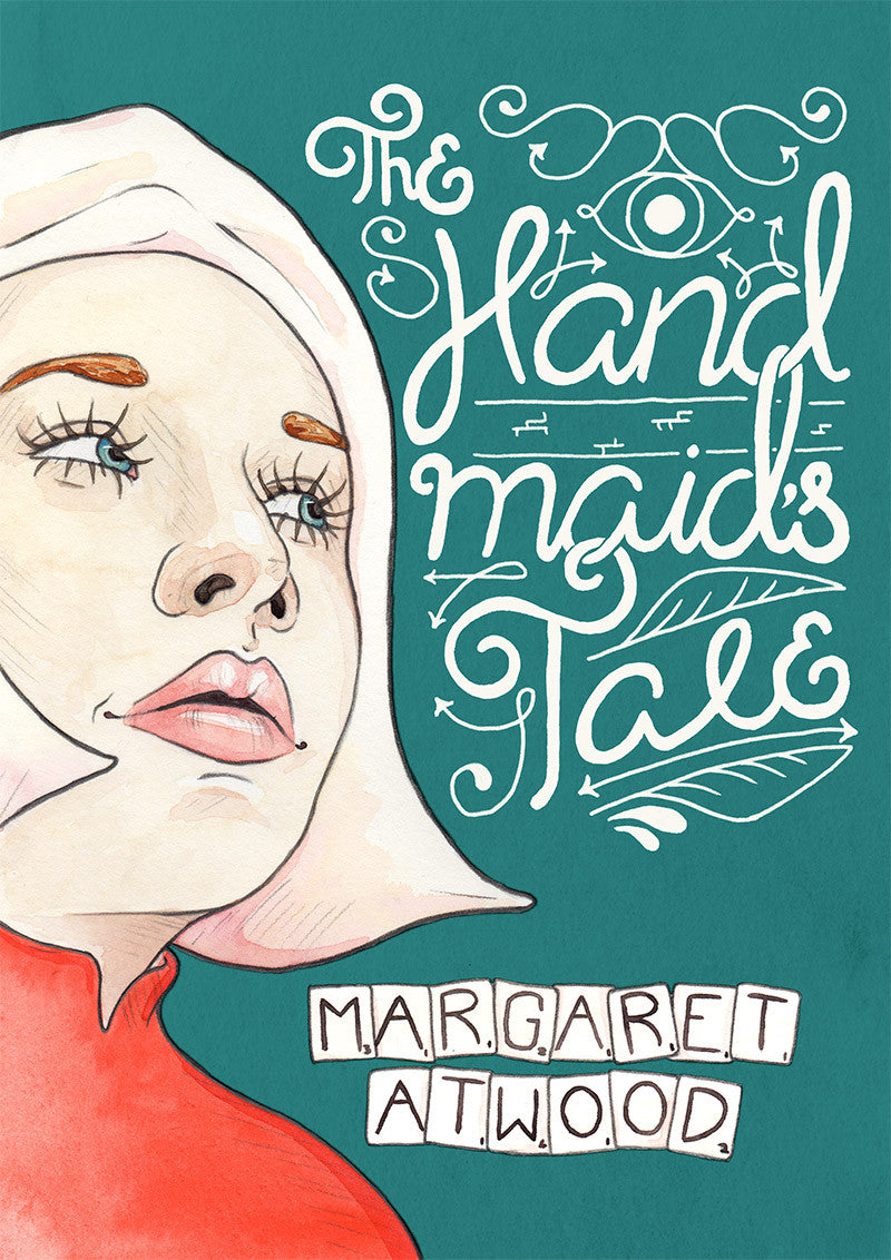 Illustrated Book Cover Photo ~ The handmaid s tale by margaret atwood illustrated book cover