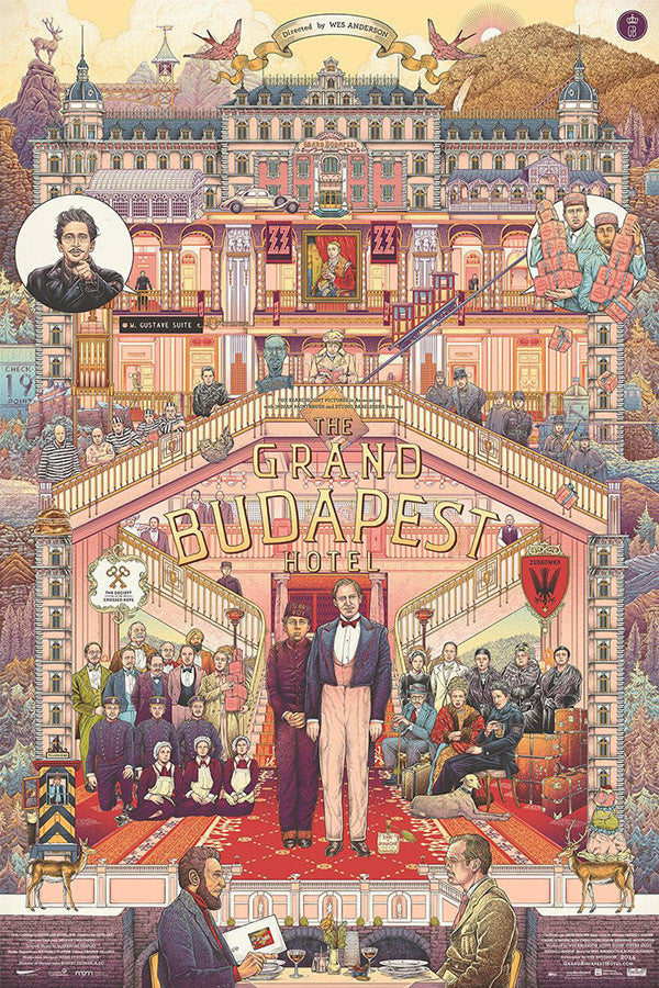 The Grand Budapest Hotel Poster by Ise Ananphada
