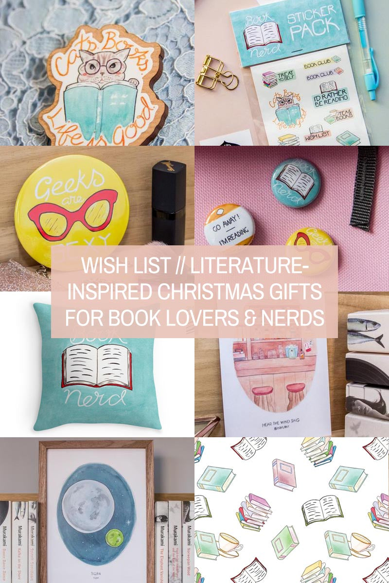 Wish List // Literature-Inspired Christmas Gifts for Book Lovers & Nerds