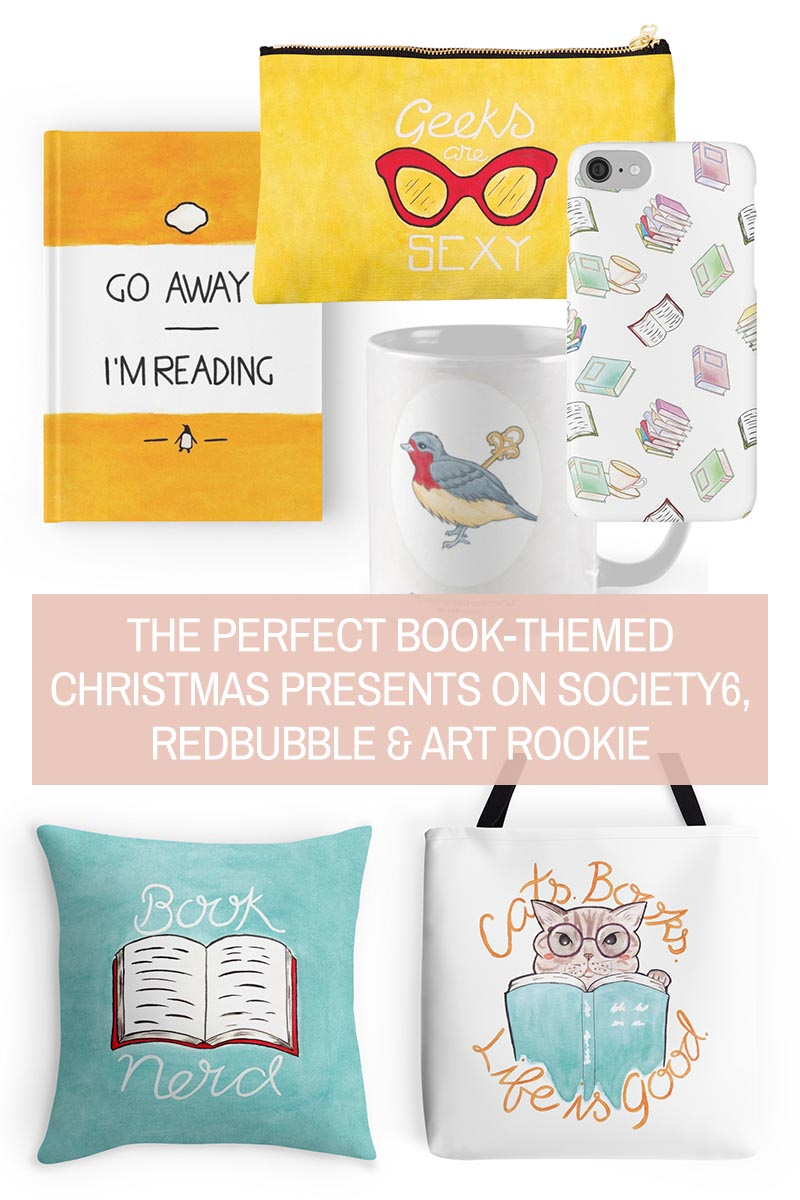 Wish List // Literature-Inspired Christmas Gifts for Book Lovers & Nerds on Society6, Redbubble & Art Rookie