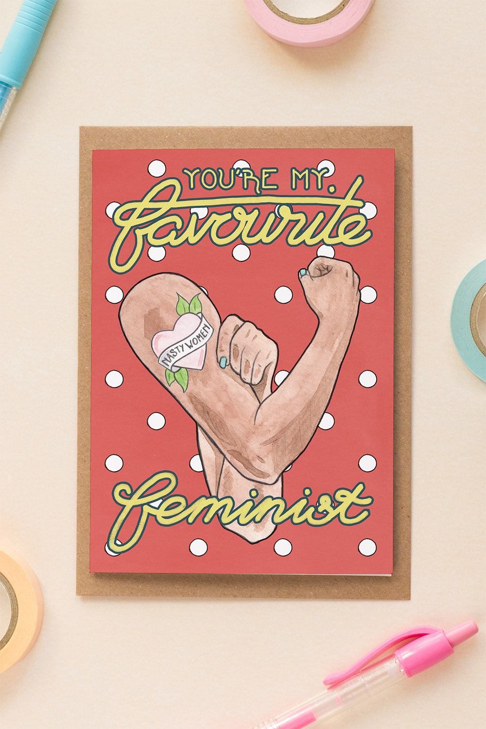 You're My Favourite Feminist Birthday / Friendship Card