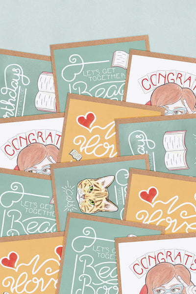 Bookish Greeting Cards Multipack // Choose Your Own Selection - A Rose Cast