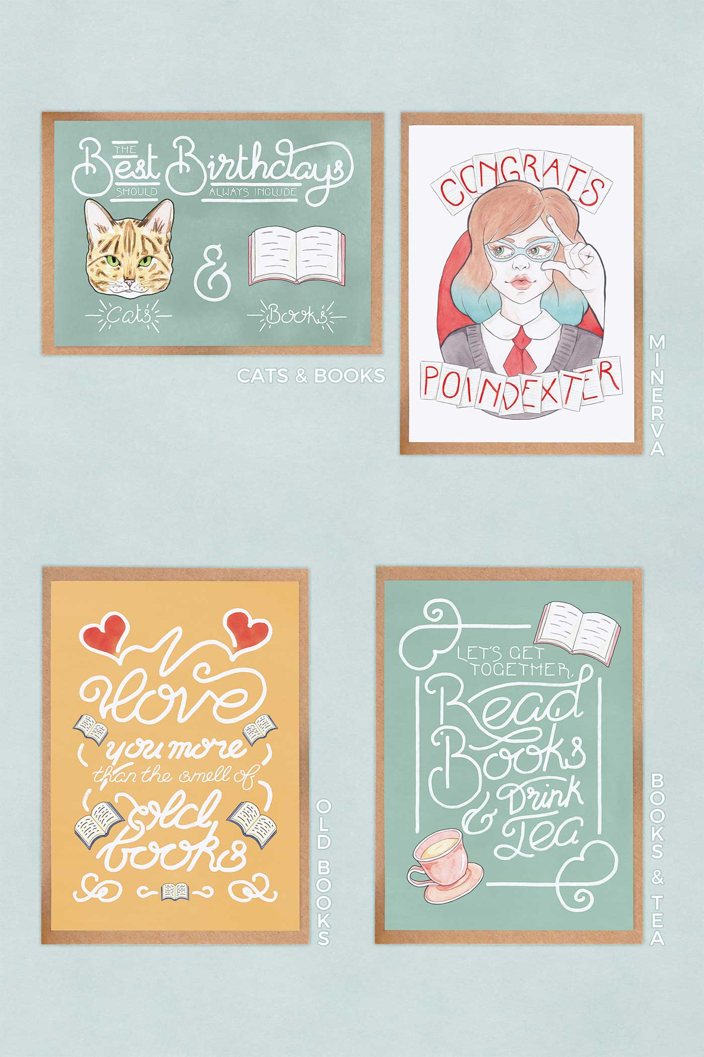 Bookish Greeting Cards Multipack // Choose Your Own Selection