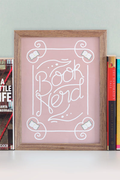Book Nerd Illustrated Ornate Art Print