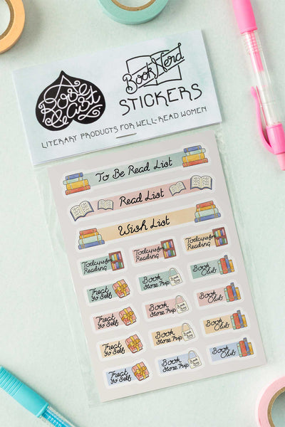 Bookish Bibliophile Journal / Planner Kiss-Cut Vinyl Stickers