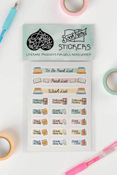 Bookish Reading Journal / Planner Kiss-Cut Vinyl Stickers