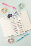 Journal / Planner Kiss-Cut Vinyl Stickers - A Rose Cast