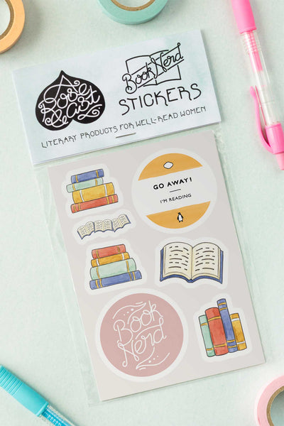 Bibliophile / Book Lover Kiss-Cut Vinyl Stickers - A Rose Cast