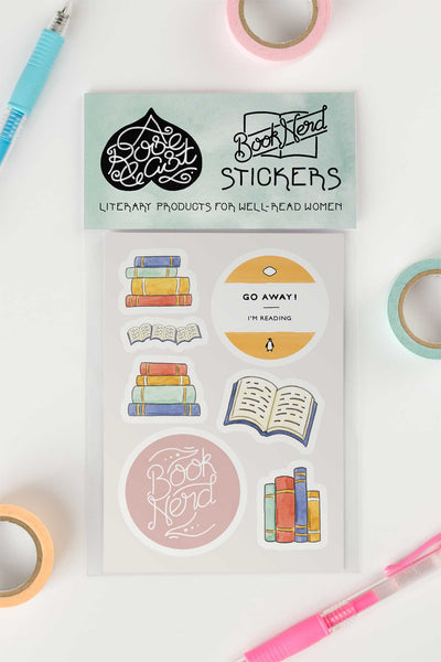 Bibliophile / Book Lover Kiss-Cut Vinyl Stickers