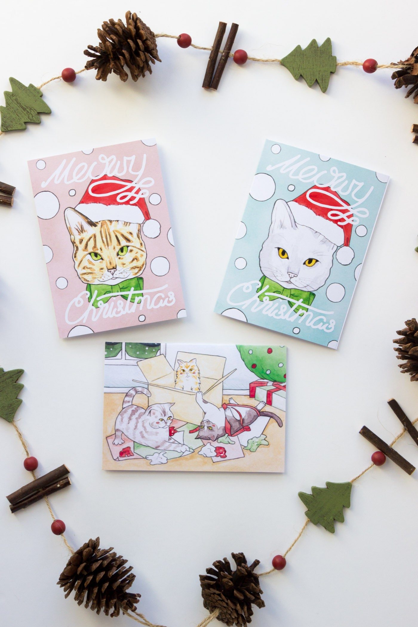 Cat Themed Christmas Cards