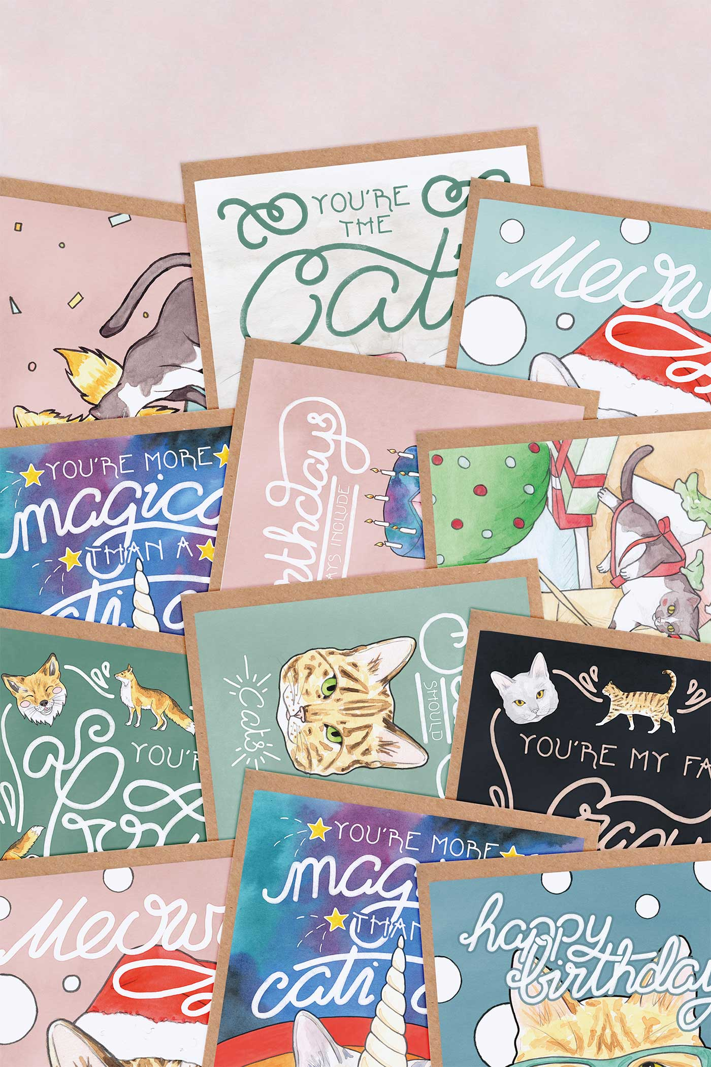 Crazy Cat Lady Greeting Cards Multipack // Choose Your Own Selection