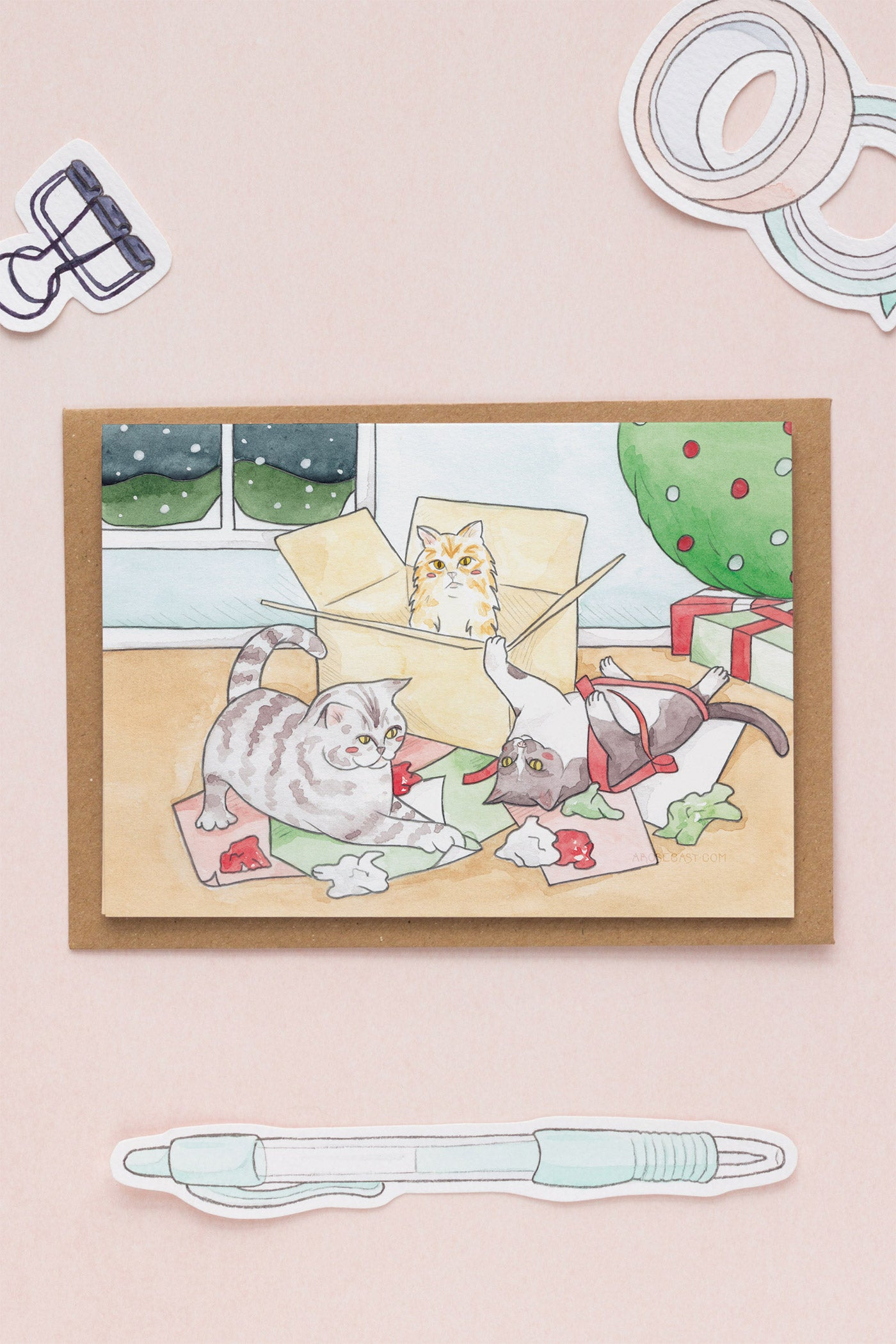 Cats & Christmas / Happy Holiday Greeting Card